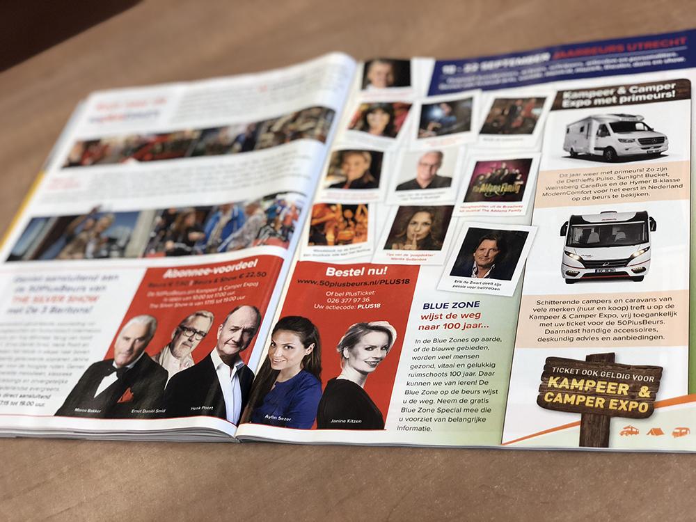 50PlusBeurs advertentie 2018 Plus Magazine