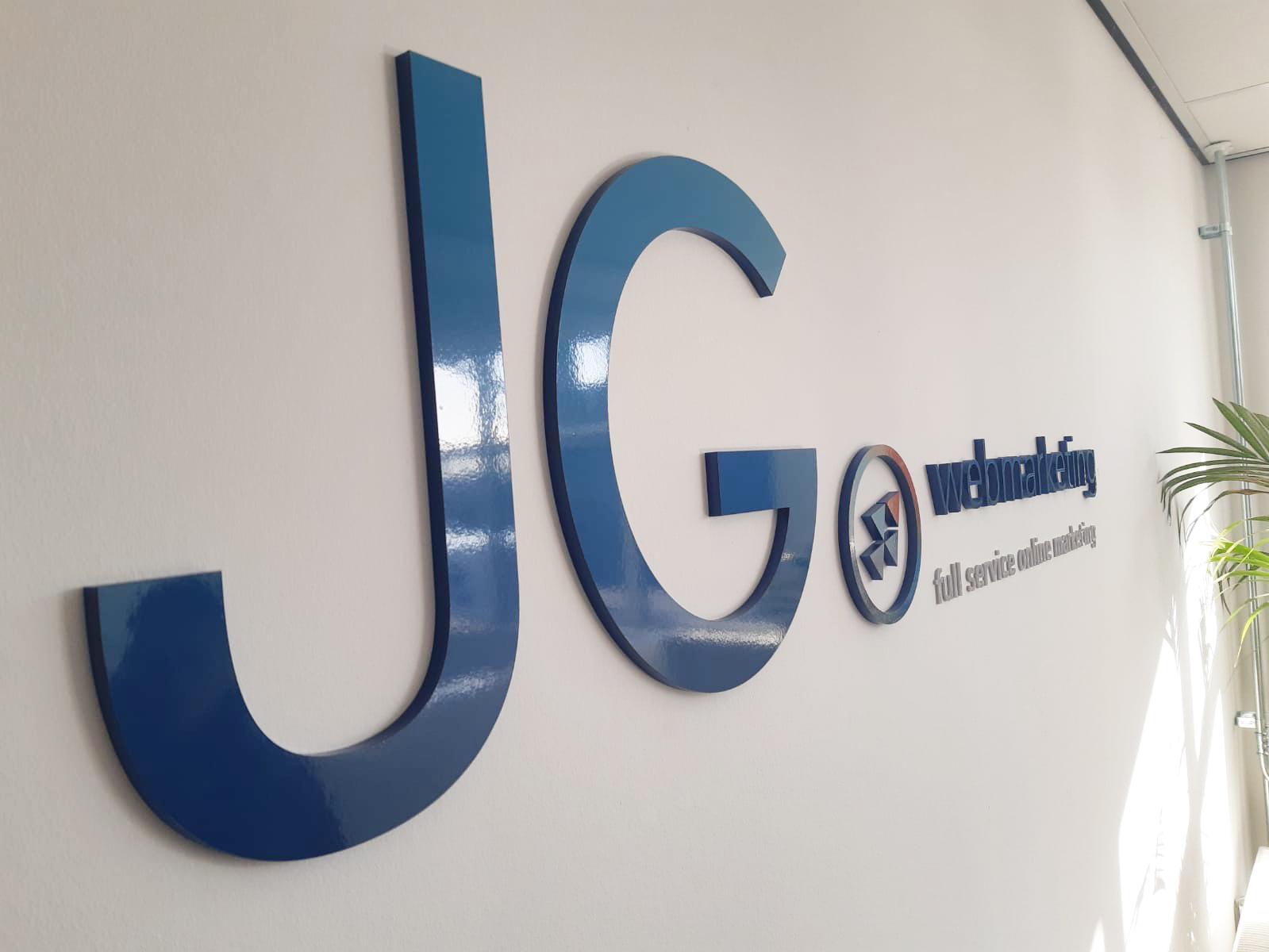 Acrylaat muurbelettering JD Webmarketing