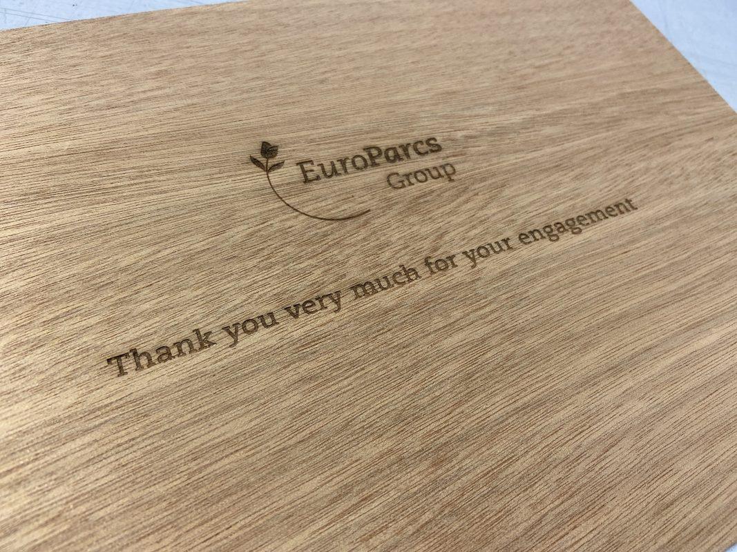 laser gegraveerde houten boek cover