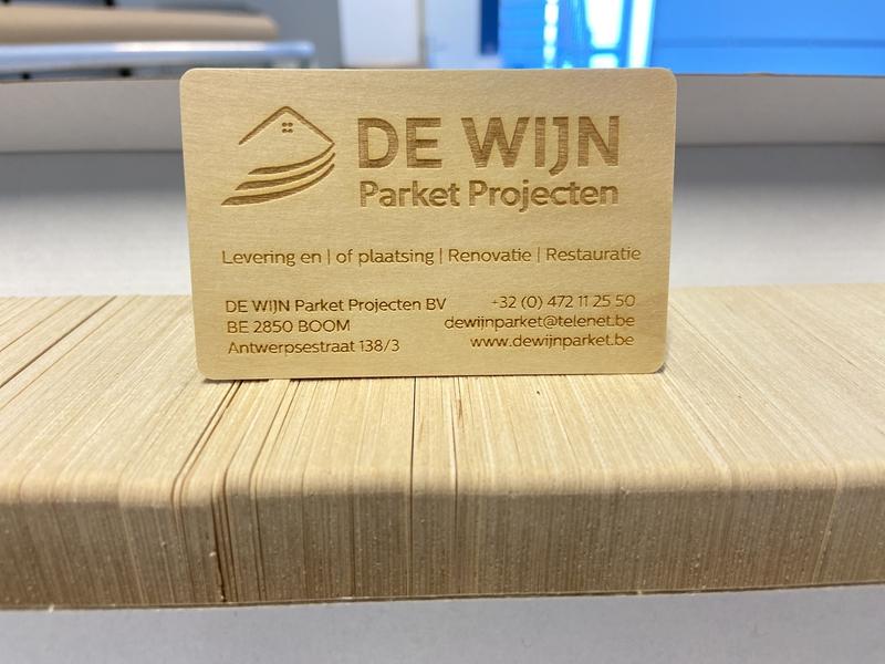 laser gegraveerde houten visitekaarten